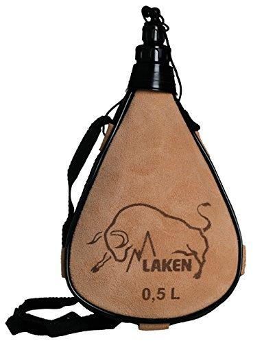 Laken Leder-Feldflasche gerade Form PK500 - R