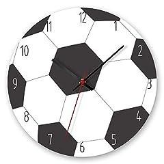 Idea Regalo - daingjiang Orologio da Parete con Pallone da Calcio Rotondo da 12 Pollici Orologio da Parete Elegante con personalità in Acrilico