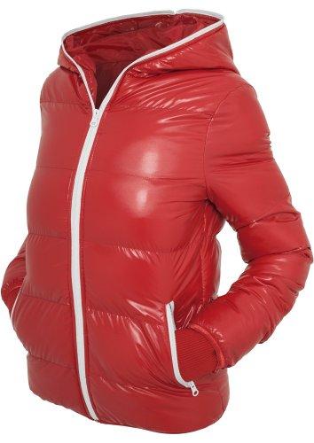 Urban Classics Ladies Shiny Bubble Jacket Girl-Jacke schwarz/weiß Red