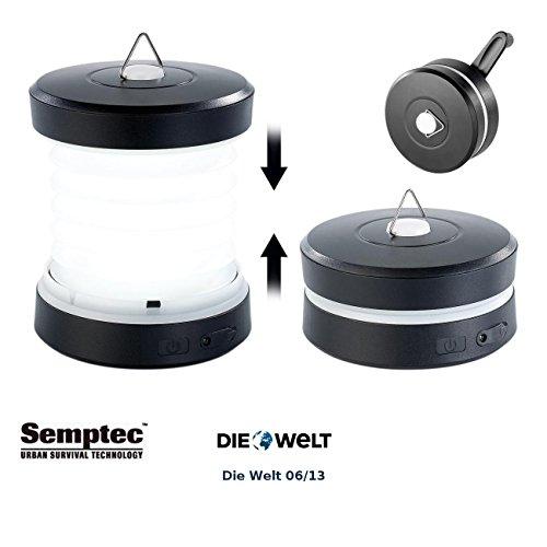 Semptec Urban Survival Technology USB Kurbel Ladegerät: Faltbare Dynamo Campingleuchte mit Kurbel Handy Notladefunktion (Dynamo Ladegerät) (Kurbel-handy-ladegerät)