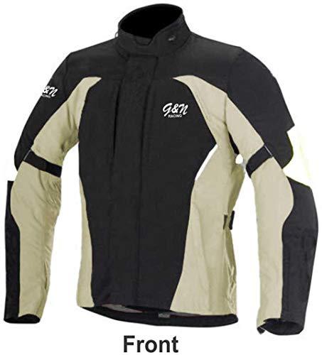 g & N gn-011| giacca impermeabile da moto in Cordura tessuto e approvato CE Armour