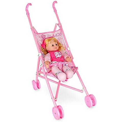 011361 Cochecito de juguete con bebé TRY ME que habla de 33cm
