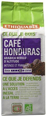 Ethiquable Café Moulu Honduras Bio et Équitable 250 g Producteurs Paysans - Lot de 4