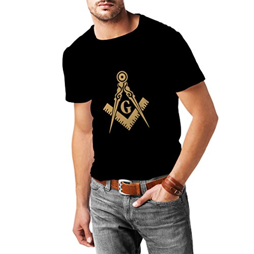 Creed Kostüm Amazon Assassin (Männer T-Shirt Freimaurer (Freemasons) – zubehör für Herren mit dem symbole