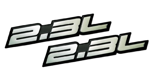 2 x (pair/Set) 2.3L Liter Embossed SILVER on Black Highly Polished Silver Real Aluminum Auto Emblem Badge Nameplate for Ford Ranger XL XLT Pinto Mustang II 2 LX Tempo GL Thunderbird Focus ZX4 Escape XLS Hybrid Fusion S SE Chevrolet Beretta Cavalier Dodge Mercury Milan Mariner Hybrid Capri RS Buick Skylark Audi 80 90 100 5000 Quattro Coupe 850 T5 Saab 9-5 Volvo C70 240 GT DL S60 V70 T5 BMW M3 E30 Mercedes Benz 190 200 Series SLK 230 Kompressor C Class Land Rover 2A iia Sedan coupe Wagon 2 3 4 5 2
