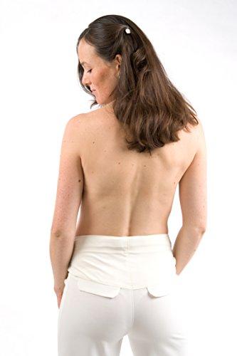 Pantalon femme hochzeitshose christoff schwangerschaftshose umstandsmode 44/500 Blanc - Blanc