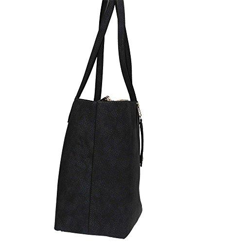 RoccoBarocco ROBS1D301 Shopping Bag Donna Piombo