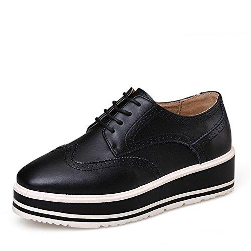 Printemps, Chaussures Avec Des Semelles épaisses/Oumeiyinglun Vent Chaussures Brock/Chaussures Plates/ Chaussures En Cuir/Chaussures Femme C