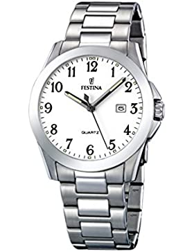 Festina Herren-Armbanduhr XL Klassik Analog Quarz Edelstahl F16376/1