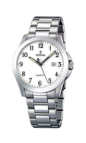 FESTINA F16376/1 – Reloj de caballero de cuarzo, correa de acero inoxidable color plata