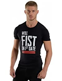 "Mister B ""Fist on first date"" T-shirt Schwarz Größe S"
