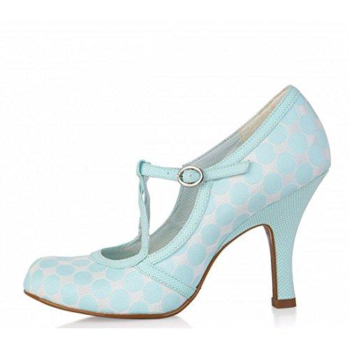 Ruby Shoo Edie Mint Polka Dot Mary Jane High Heel Shoes, UK 8