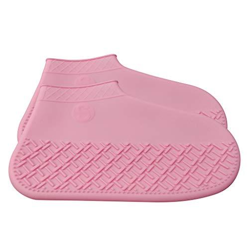 Cuteelf Erwachsene Kinder Überschuh wiederverwendbare Silikon Überschuh wasserdicht Junge Mädchen wasserdicht Falten wasserdicht Schlamm leicht zu reinigen Überschuh -