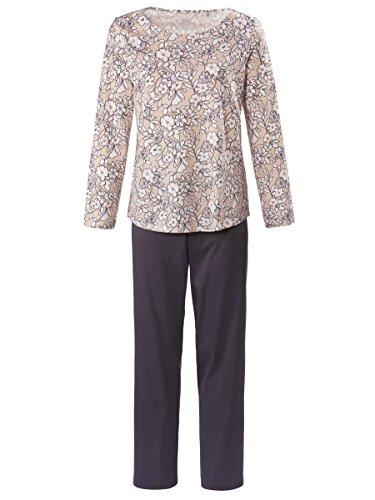 Calida Olivia Pyjama lang mit Schulterdetail Damen (Olivia Schlafanzug)