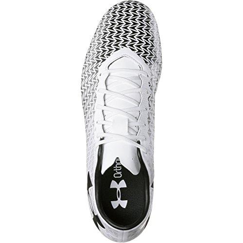 Under Armour Ua Cf Force 3.0 Fg, Chaussures de Football Homme blanc/noir
