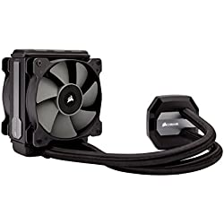 Corsair Hydro H80i v2 All-in-One Liquid CPU Cooler Sistema di Raffreddamento a Liquido, Radiatore da 120 mm, Ventola Singola SP120 PWM, Nero