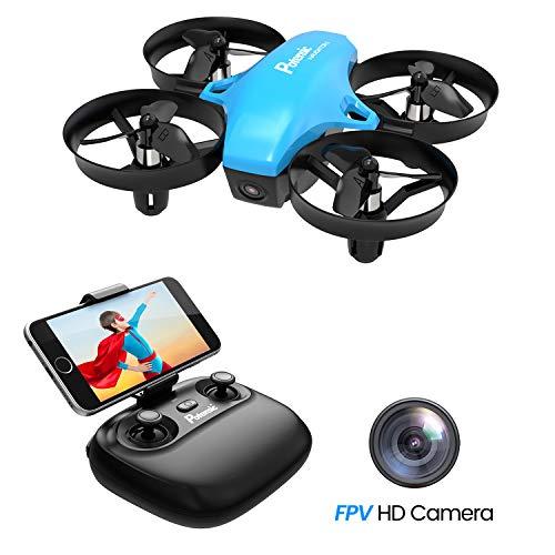 Potensic Drone con Telecamera Mini Drone Telecomando Quadricottero WiFi Funzione Sospensione Altitudine, modalità Senza Testa, Adatto per Principianti, Buon Regalo...