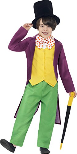 s Lizenzprodukt Roald Dahl Willy Wonka Kostüm (Willy Wonka Hut)