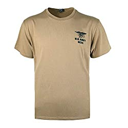 EXCELLENT ELITE SPANKER Männer Casual T-Shirt US Army Seal Original Navy Seals T-Shirt(Kojote Braun-S)