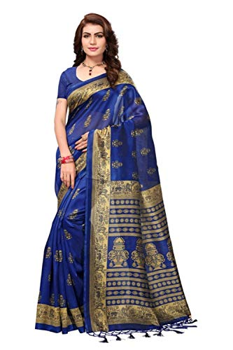 Flosive Women's silk Saree With Blouse Piece (KF-S181410 a_Free Size)
