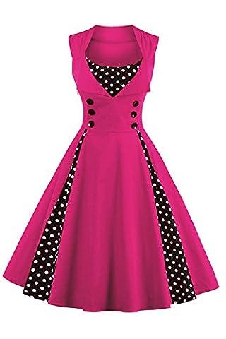 Babyonline Damen 1950 Marilyn Monroe Rockabilly großen Swing Kleid 2XL