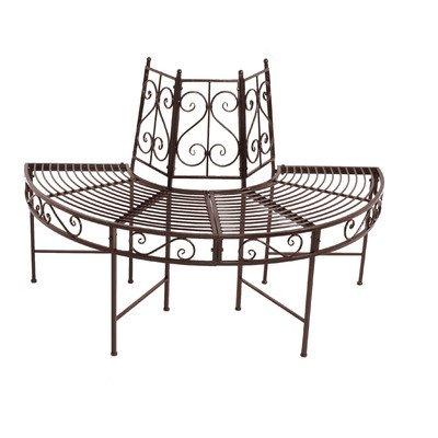 2-Seater Semicircular Metal Tree Bench - Material: Metal Finish: Rust-look Mit Baumausschnitt: Ja Finish: Laquered and glazed