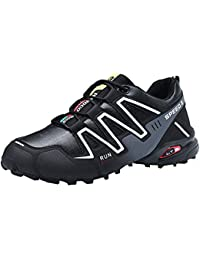 Logobeing Zapatillas de Senderismo Antideslizantes Seguridad La Zapatilla de Hombre Calzado de Correr En Montaña Aire Libre y Deporte Calzado de Trail Running Shoes