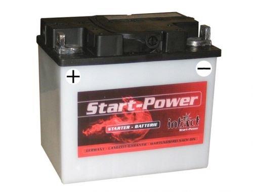 12V 30Ah Batterie C60-N30-A (187 x 130 x 170 mm) für Rasenmäher Aufsitzmäher