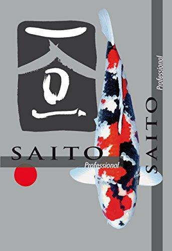 Premium Koifutter Saito Professional, Koischwimmfutter für überdurchschnittliches Wachstum, hervorragenden Körperbau und lupenrein leuchtende Farben bei allen Koi, 5kg Beutel, 5mm Koipellets