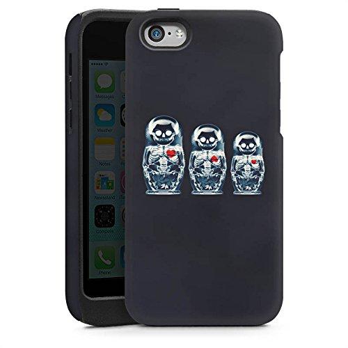 Apple iPhone 6 Housse Étui Silicone Coque Protection Os Crâne Tête de mort Cas Tough brillant
