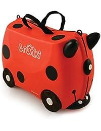 Trunki Trunki Ride-On Suitcase Bagage Enfant, 46 cm, 18 L, Rouge et Noir