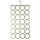 #10: Dupatta Hanger by Sellus | Scarf Hanger | Scarf Hanger 28 Ring | Scarf Hangers For Wardrobe | Scarf Hanger Ring | Scarf Hanger Organiser | Scarf Hangers Set | Hangers For Scarves | Scarf Hanger Steel 28 Slots, Multicolour (72 cm x 36 cm) Multi Purpose 28 Rings Foldable Hanger for Ties, Scarfs, Belts, Bags Etc