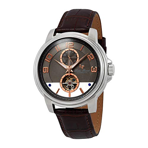 Lucien Piccard Open Heart Automatic Grey Dial Mens Watch LP-28001A-014RA-BRW