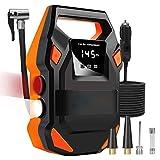 MXXTL Pneumatico Inflator, Compressore Pompa Pneumatico Preset, 35L / Min, 3 Ugelli, Luci, Utilizzati Per Auto Suv Bicicletta Gonfiabile Luci Basket Led.
