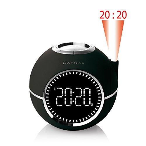 NAF NAF CLOCKINE - Radio réveil avec projection de l'heure, sons de nature et entrée audio auxiliaire.