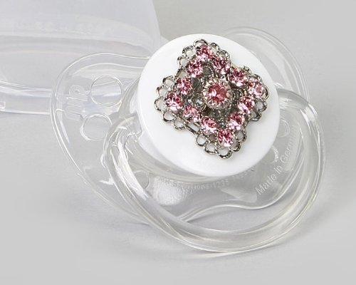 Sogno di cristallo Swarovski rosa filigrana Ciuccio