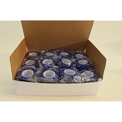 Blue Cohesive Bandage 2.5cm x 4.5m x 24 Rolls