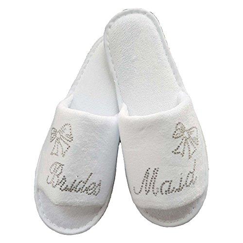 lin.m Pantofole Donna Bianco White