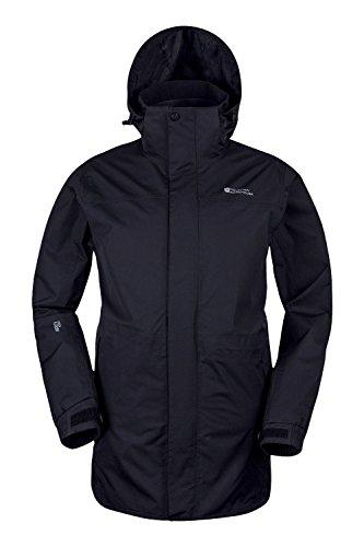 Mountain Warehouse Glacier Extreme Herren Lange Wasserdichte Atmungsaktive  Jacke mit Kapuze Anorak Regenmantel Freizeit Sport Wander 7668047df8
