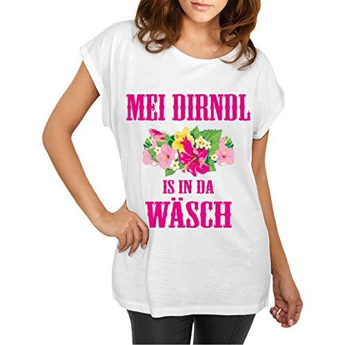 Frauen und Damen T-Shirt Oktoberfest MEI Dirndl is in da Wäsch Größe XS - 5XL