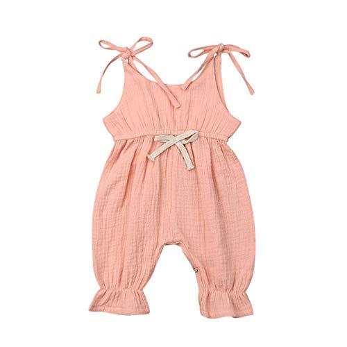 WANGSAURA Baby Mädchen Junge Ärmellos Gekräuselte Einteiliger Strampler Kleinkind Spielanzug 0-24 Monate Prinzessin Neugeborenes Kleidung