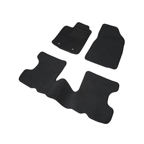 DBS 1763702 Tapis Auto – Sur Mesure – Tapis de sol pour Voiture – 3 Pièces – Antidérapant – Moquette noir 900g/m² – Finition Velours – Gamme Star Magasin en ligne