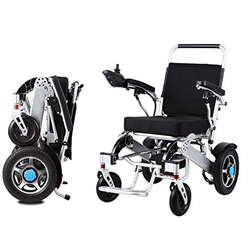Klappstuhl Warenkorb (Elektrischer Rollstuhl, Faltbarer älterer Behindertenhilfeauto-Doppelprüfer Intelligenter kompakter tragbarer Leichter Roller, kann 15km Fahren)