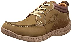 Red Chief Mens Camel Leather Boat Shoes - 10 UK/India (44.5 EU)(RC3078 004)