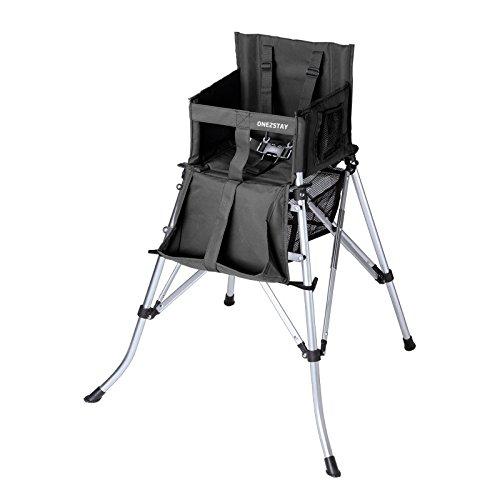 Hochstuhl schwarz faltbar mit Tragetasche,5-Punkt Gurt Kinderhochstuhl Faltstuhl Kinderstuhl