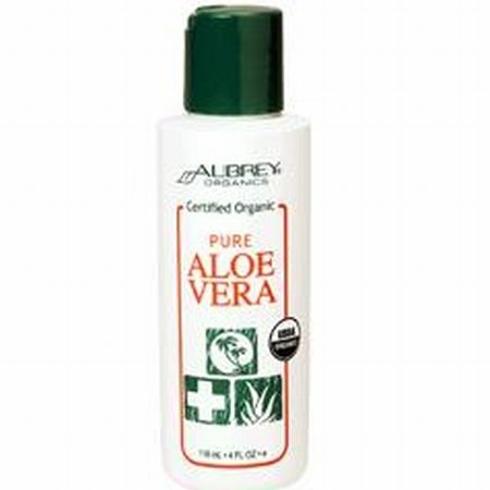 Aubrey Organics 100% Organic Aloe Vera Gel 4oz -