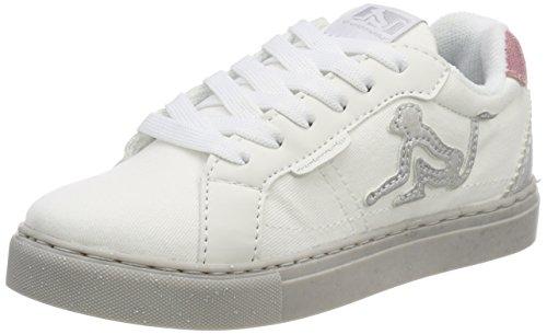 low priced 1b4f2 867d7 DrunknMunky Nashville Flash, Zapatillas para Niñas, Blanco (White-Gray  Silver K61)
