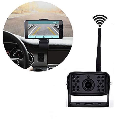 Telecamera di retromarcia wireless per camion, pickup, 18 led, visione notturna, wifi, impermeabile ip69k, telecamera posteriore per auto, camion