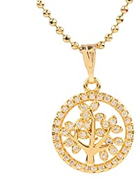 Ananth Jewels Heart Shaped Rose Gold Plated Pendant Necklace For Women - B073T44BWF