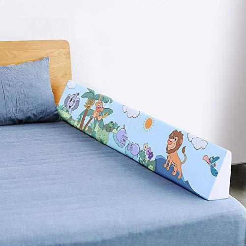 Bettumrandung Nest Kopfschutz Nestchen - Baumwolle, Atmungsaktiv, Weicher Baby-Nestkantenschutz,1.5M-Blue(B)
